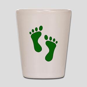 Green Feet Shot Glass