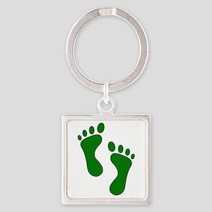 Green Feet Keychains