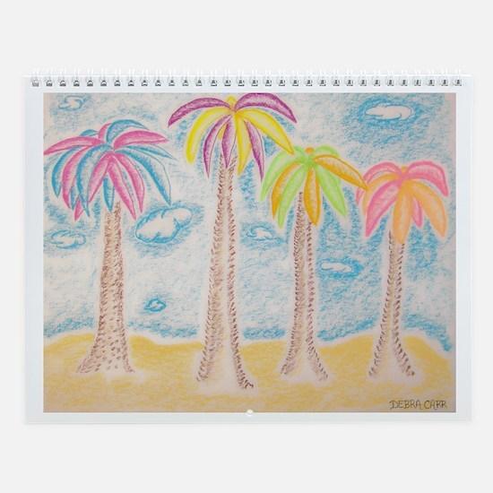 Colorful Palms Wall Calendar