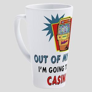 Out of My Way Casino! 17 oz Latte Mug