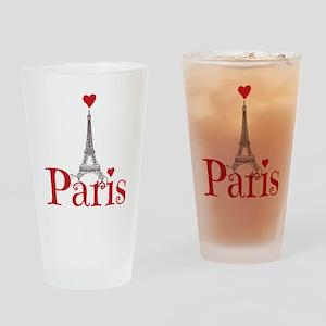 I love Paris Drinking Glass
