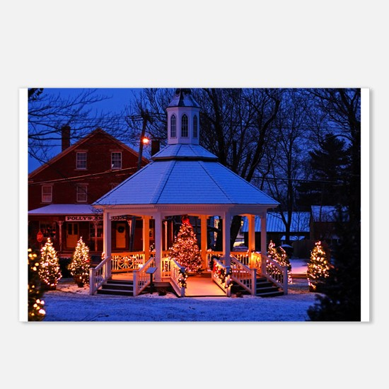 Sutton Gazebo at Christmas Postcards (Package of 8