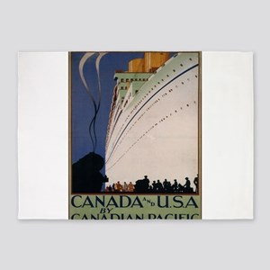 Vintage poster - Canadian Pacific 5'x7'Area Rug