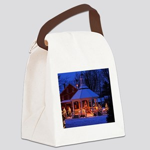 Sutton Gazebo at Christmas Canvas Lunch Bag