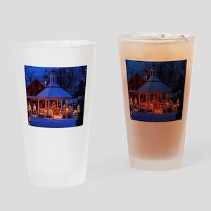 Sutton Gazebo at Christmas Drinking Glass