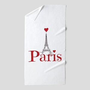 I love Paris Beach Towel