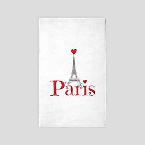 I love Paris Area Rug
