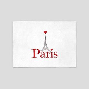 I love Paris 5'x7'Area Rug