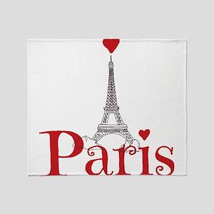 I love Paris Throw Blanket