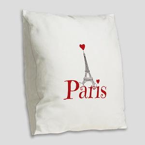 I love Paris Burlap Throw Pillow