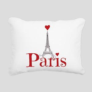 I love Paris Rectangular Canvas Pillow