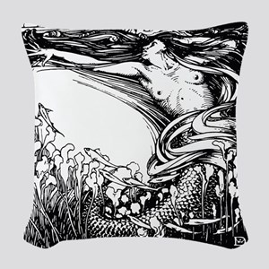 Merman Woven Throw Pillow