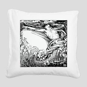 Merman Square Canvas Pillow