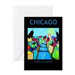 Chicago River View Greeting Card