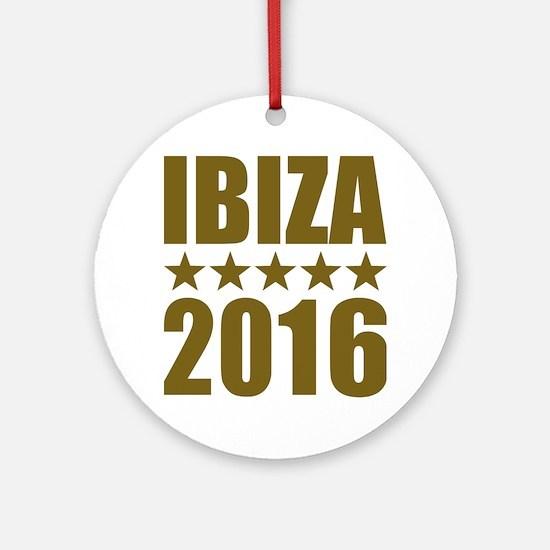Ibiza 2016 Round Ornament