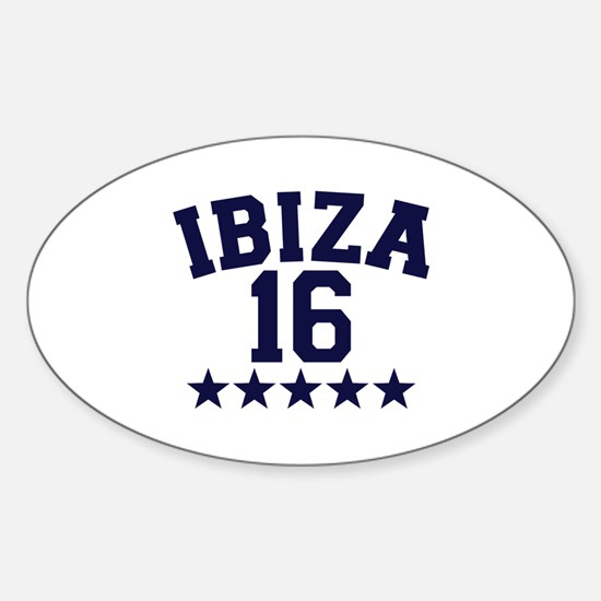 Ibiza 2016 Sticker (Oval)