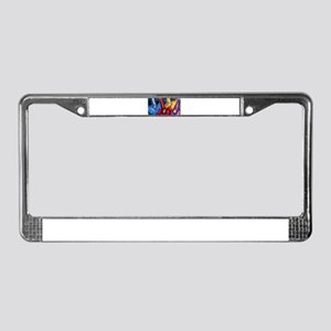 Colorful Clowns, art License Plate Frame
