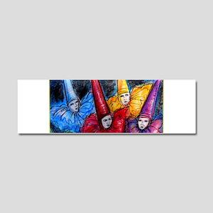 Colorful Clowns, art Car Magnet 10 x 3