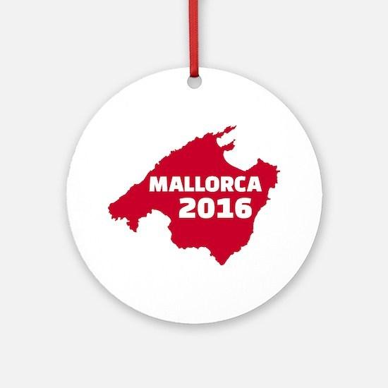 Mallorca 2016 Round Ornament