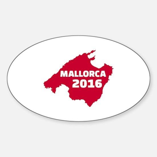 Mallorca 2016 Sticker (Oval)