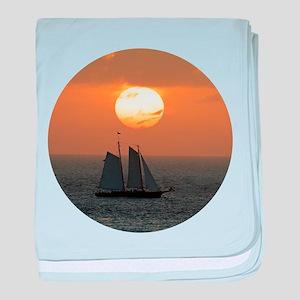 Sailboat Sunset baby blanket