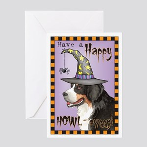 Halloween Berner Greeting Card