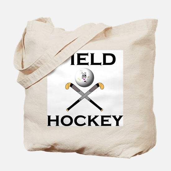 Cute Field hockey girl Tote Bag