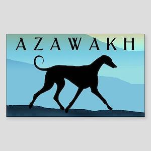 Blue Mountains Azawakh Rectangle Sticker