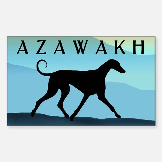 Blue Mountains Azawakh Rectangle Decal