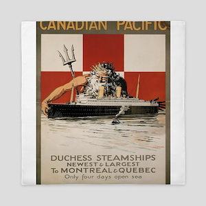 Vintage poster - Canadian Pacific Crui Queen Duvet