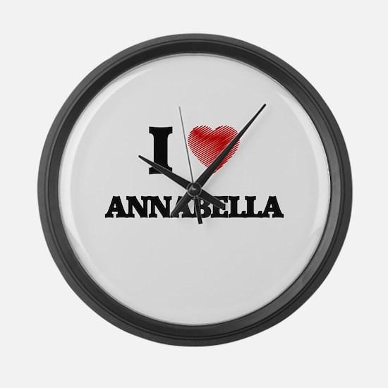 I Love Annabella Large Wall Clock
