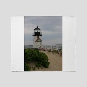Brandt Point Lighthouse Nantucket MA Throw Blanket
