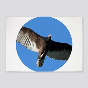 Turkey Vulture in Flight 5'x7'Area Rug