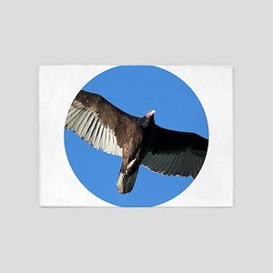 Turkey Vulture in Flight 5'x7'Area Rug