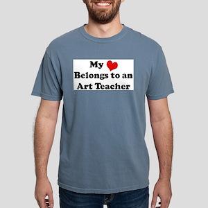 Heart Belongs: Art Teacher Ash Grey T-Shirt