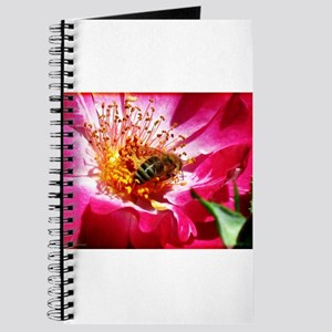 Bee And Pink Rose Journal