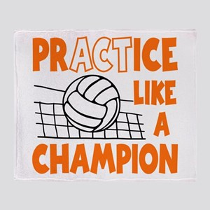 PRACTICE, VOLLEYBALL Throw Blanket