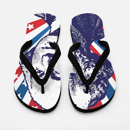 george washington Flip Flops