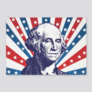 george washington 5'x7'Area Rug