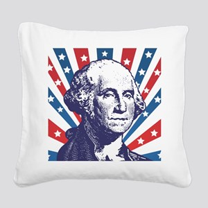 george washington Square Canvas Pillow