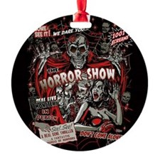 Horror Movie Monsters Spook Show Round Ornament