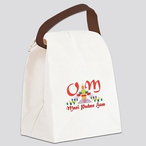 Om Mani Padme Hum Canvas Lunch Bag