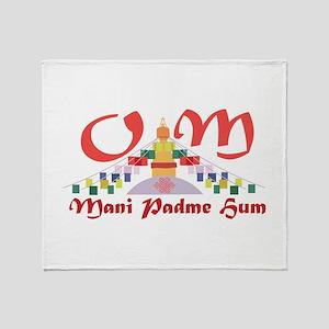 Om Mani Padme Hum Throw Blanket