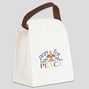 Pray For Peace Canvas Lunch Bag