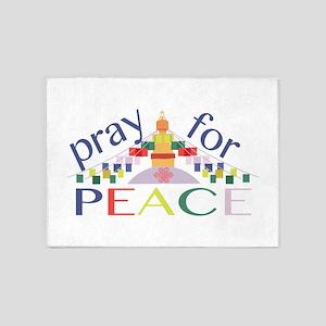 Pray For Peace 5'x7'Area Rug