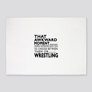 Wrestling Awkward Moment Designs 5'x7'Area Rug