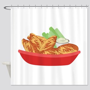 Chicken Wings Shower Curtain