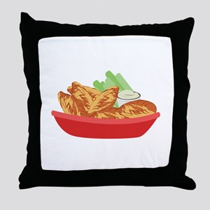 Chicken Wings Throw Pillow