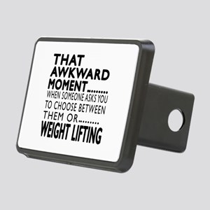 Weight Lifting Awkward Mom Rectangular Hitch Cover