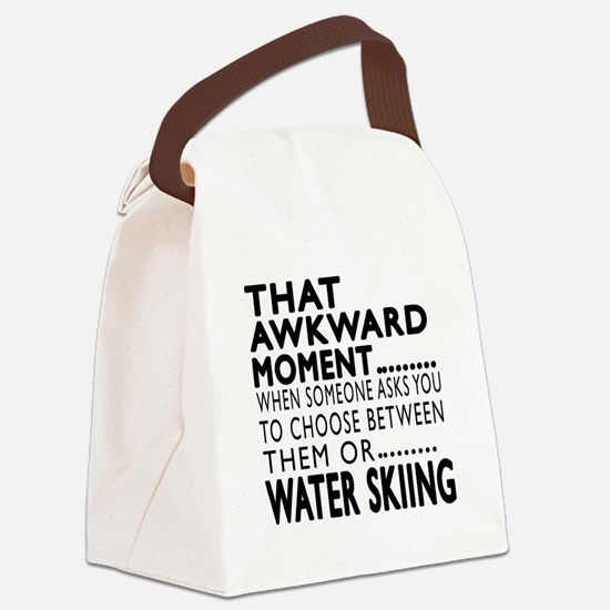 Water Skiing Awkward Moment Desig Canvas Lunch Bag